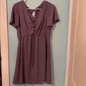 Never worn Francesca's Purple Simple Dress